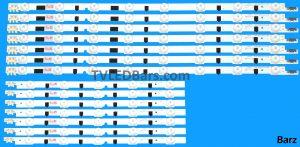Original Full LED Backlight Array Samsung BN96-25302A+ BN96-25303A BN96-27896A + BN96-27897A 39 D2GE-390SCA-R3 + D2GE-390SCB-R3 2013SVS39F L + R UE39F 14pcs BZ223208