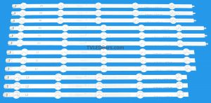 3x L1 Strip - 6916L-1241A 3x R1Strip - 6916L-1273A 3x L2 Strip - 6916L-1272A 3x R2Strip - 6916L-1276A Screen Type(s): LC500DUE-SFR1 LC500DUE-SFR2 LC500DUE-SFR3 LC500DUE-SFR4 LC500DUE-SFU1 LC500DUE-SFU2 LC500DUE-SFU3 LC500DUE-SFU4 LC500DUG-JFR1 (SF) (JF) (R1) (R2) (R3) (R4) (U1) (U2) (U3) (U4) Compatible Model Numbers: 50LN5700 50LA620050LN5400-ZA 50LN5403-ZA 50LN5404-ZA 50LN5405-ZA 50LN5406-ZA 50LN540B-ZA 50LN540R-ZA 50LN540S-ZA 50LN540U-ZA 50LN540U-ZB 50LN541U-ZB 50LN540V-ZA 50LN541V-ZC 50LN550V-ZD 50LA613S-ZA 50LA613V-ZA 50LA6130-ZB 50LA6134-ZB 50LA6136-ZB 50LA613S-ZB 50LA613V-ZB 50LA613V-ZF 50LA613V-ZG 50LA6150-ZB 50LA6154-ZB 50LA6156-ZB 50LA615S-ZA 50LA615S-ZB 50LA615V-ZA 50LA615V-ZB 50LA615V-ZE50LA615V-ZF 50LA6208-ZA 50LA620S-ZA 50LA620V-ZA 50LA6218-ZD 50LA621S-ZD 50LA621V-ZD50LA616V-ZG50LN5707-ZA 50LN5708-ZA 50LN570R-ZA 50LN570S-ZA 50LN570U-ZA 50LN570V-ZA50LN5708-ZE 50LN570S-ZE 50LN570V-ZE 50LN5758-ZE 50LN575S-ZE 50LN575V-ZE 50LN5757-ZE 50LN575R-ZE 50LN575U-ZE 50LN5778-ZK 50LN577S-ZK 50LN577V-ZK 50LN5788-ZE 50LN578S-ZE 50LN578V-ZE50LN6108-ZB 50LN610S-ZB 50LN610V-ZB 50LN6138-ZB 50LN613S-ZB 50LN613V-ZB 50WL30MS-D Panasonic TX-L50B6BTX-L50BL6BTX-L50B6ETX-L50BL6E Toshiba 50L4353D BARZ