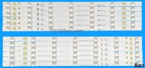Barz LED Backlight Array Panasonic L5EDDYY00687 48 98.48S04.1SE 96.48S04.002 480TV05 480TV06 12pcs