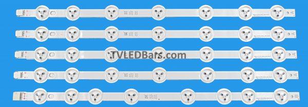 Strip numbers: 4x A strip390DLED_A-TYPE_REV02 1x B strip390DLED_B-TYPE_REV02 Screen Type(s): VES390UNDA-2D-N02VES390UNDA-2D-N03 Compatible Models: Panasonic TX-39A300B Finlux 39FPD274B-T JVC LT-39C740(A) Digihome 39273SMFHDLED