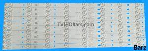 Replacement LED Backlight Array 49 LC490DUJ-SGE3 LC490DUY-SHA2 JVC LT-49C550 LED49D8-01(A) LED50D8-03 (A) 10pcs BZ557001