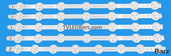 Strip numbers: 4x A strip400LED_A-TYPE_REV02_2014.06.07 1x B strip40DLED_B-TYPE_REV02_2014.05.07 Compatible part number(s): A strip400LED_A-TYPE_2014.05.07_REV03 B strip40DLED_B-TYPE_2014.05.07_REV03 Screen Type(s): VES400UNDS-2D-N02VES400UNDS-2D-N03VES400UNDS-2D-N04 VES400UNDS-2D-R07 Compatible Models: Toshiba 40L1533DB 40S3653DB40L3653DB40D3553DB BushDLED40287FHD Techwood 40A01B 40A02B40AO12B JVC LT-40C750 JMBJT0140002B/01 Luxor LUX0140003/01D Digihome LED40287FHD40272SMFHDLEDDLED40FHD Celcus DLED40125FHD Polaroid 3-40-LED-14 Finlux 40FCD274B-T