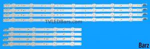 (Used) Original Full LED Backlight Array Samsung 43″ GJ043BGA-B1 GJ043BGA-B2 BN96-36336A + BN96-36337A UE43J5 8pcs BZ223601
