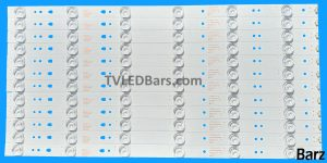 Replacement LED Backlight Array JVC LT-50C550 50 LED50D6-01 (A) V500HJ1-PE8 12pcs