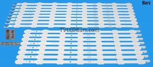 Full LED Backlight Array Samsung 55 CY-VH055FGLV1H DCGE-550DCA-R5 + DCGE-550DCB-R5 BN96-33493A+ BN96-33494A UE55HU7200 UE55HU7100 16pcs
