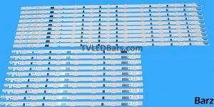 Original Full LED Backlight Array Samsung 55 D2GE-550SCA-R3 D2GE-550SCB-R3 2013SVS55F L + R BN96-25312A + BN96-25313A UE55F 20pcs