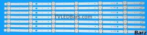 Original Full Backlight Array 55 Vestel VES550UNDL-2D-N11 VES550UNDS-2D-N11 VES550UNDS-2D-N12 VESTEL_V15_55INCH_FHD_REV06 Vestel_SVV550AJ9_6LED_Rev03_151116 7pcs BZ445024