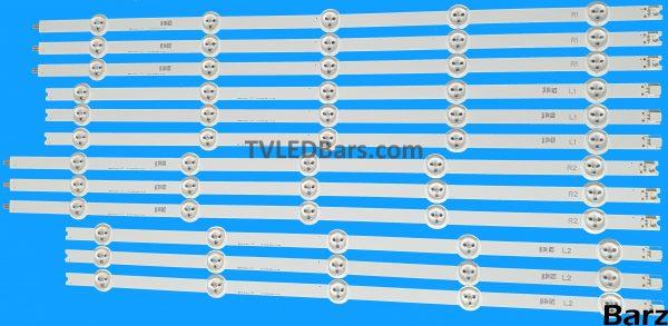 """Original Full Backlight Array Philips 55"""" LC550DUN (PG) (A1) (P1) 6916L-1447A 6916L-1448A 6916L-1449A 6916L-1450A 12pcs BZ558010"""