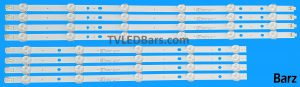 Replacement Full LED Backlight Array Samsung 46 CY-DF460BGLV1H CY-DF460BGNV1H BN96-28769A + BN96-28768A D3GE-460SMA-R1 + D3GE-460SMB-R1 D3GE-460SMA-R2 + D3GE-460SMB-R2 UE46EHUE46H 8pcs BZ223005