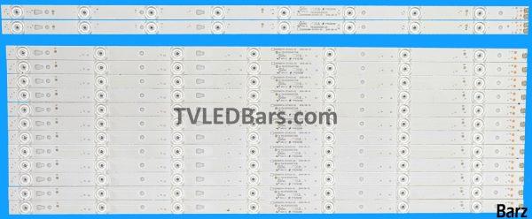 Barz LED Backlight Array JVC LT-55C550 55 LC550DUY-SHA2 LED55D07A LED55D08B 14pcs