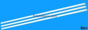 Replacement Full LED Backlight Array LG 43 NC430DGG-AAFX NC430DUE-AAFX NC430DUE-ABFX HC430DGG-SLTL HC430DUN-SLTL 43LJ61_FHD_L 43UJ65_UHD_L LC43490058A LC43490059A LC43490064A LC43490073A LC43490074A EAV63673003 43LJ43UJ AGF79078001 AGF79097901 AGF78860201 3pcs BZ112600