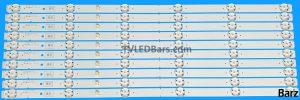 Original Full LED Backlight Array Sony 55 YS8S550CND01 YS8S550CND04 DRT L_R04_171128 KD-55XF70 10pcs BZ557511