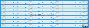 Barz LED Backlight Array Hisense HD426K3U51-T1K1 HD426DU-B51 43 SVH420AB2 SVH420AB3 SVH420AB4 7pcs