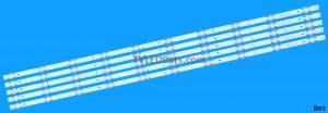 LED Backlight Array Hisense H50N5300UK H50N5308 50 HD500K3U54S1 HD500K3V02 SVH500A62 SVH500A63 5pcs