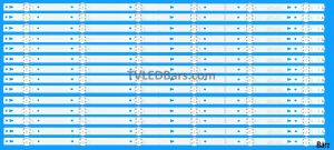 LED Backlight Array Hisense H65N5300 H65N5300UK 65 HD650K3U51-TA SVH650A58 14pcs