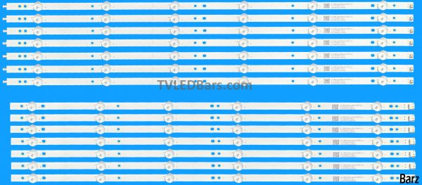 LED Backlight Array Philips 996599001086 65 TPT650UA-QVN06.U LB65047 L + R 14pcs